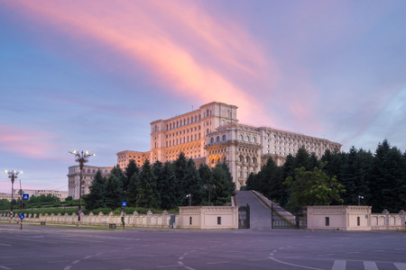 The Palace of the Parliament, Bucharest, Romania. Editorial