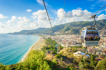 Alanya Cityscape from a funicular, Turkey Stockfoto