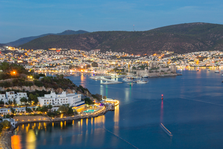 Bodrum after sunset, Turkey