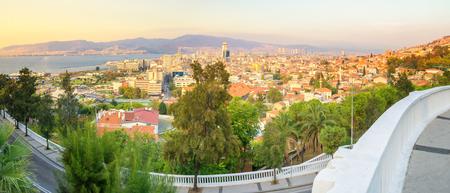 Panoramic view of Izmir Turkey. View from the Varyant district Stock Photo