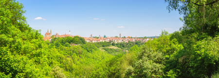 Panoramic View of Rothenburg ob der Tauber, Germany