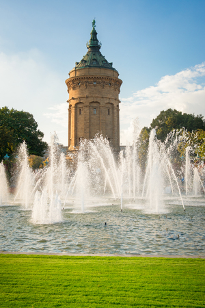 Manneim, Germany - Water Tower and Fountain