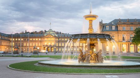Morning View of Stuttgart Schlossplatz