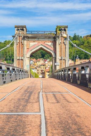 Pedestrian Bridge to Trevoux, France