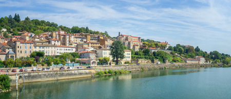 Cityscape of Trevoux, France Foto de archivo