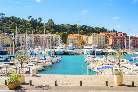 Port of Nice at a sunny summer day