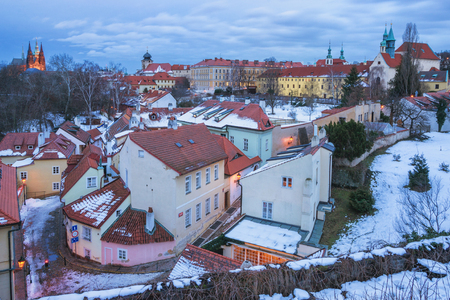 View of Novy Svet Street of Hradcany district - Prague, Czech Republic Standard-Bild