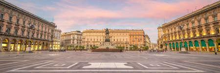 Panoramic View of Duomo Square - Milan, Italy