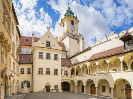 Courtyard of the Old Town Hall of Bratislava, Slovakia