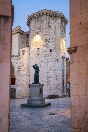 Venetian Tower early morning in the old town of Split, Croatia Foto de archivo