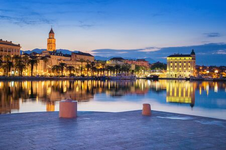Split during Sunset, beautiful Croatia Foto de archivo