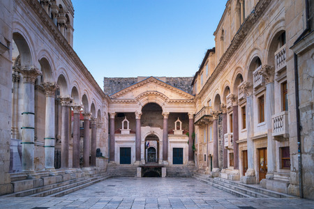 The ancient Diocletian Palace in historic center of Split - Croatia