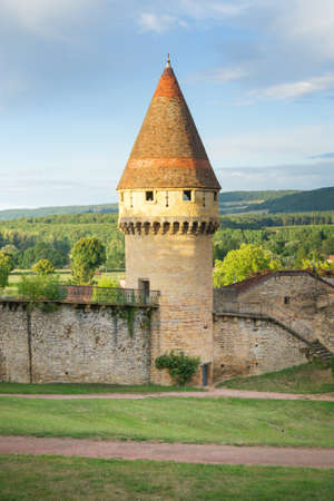 Cluny, France - Old Defense Tower and Wall