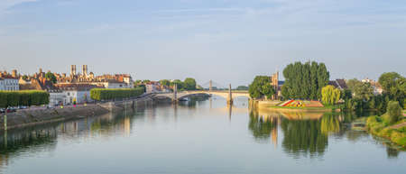 Panoramic View of Chalon-sur-Saone, France
