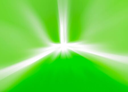 Green light burst background center photo
