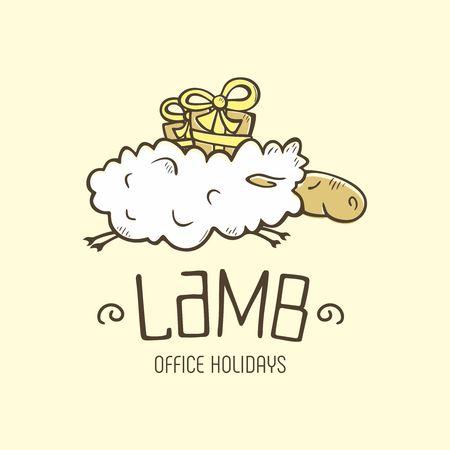 Modern vector professional sign logo lamb holiday Illustration