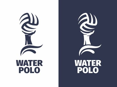 Modern vector professional sign - water polo.