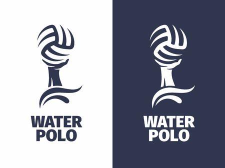 Modern vector professioneel teken - waterpolo.