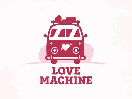 Modern vector professional sign logo love machine.