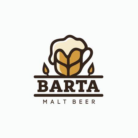 Modern vector professional  emblem beer barta.