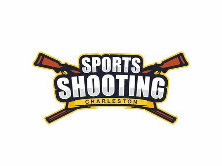Modern vector professional logo emblem sports shooting. Illustration
