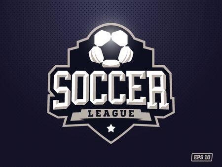 Modern professioneel voetbal voor sportteam.