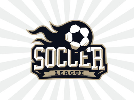 Modern professional soccer logo for sport team.