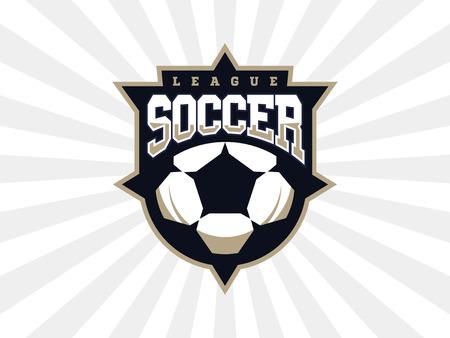 Modern professional soccer logo for sport team.