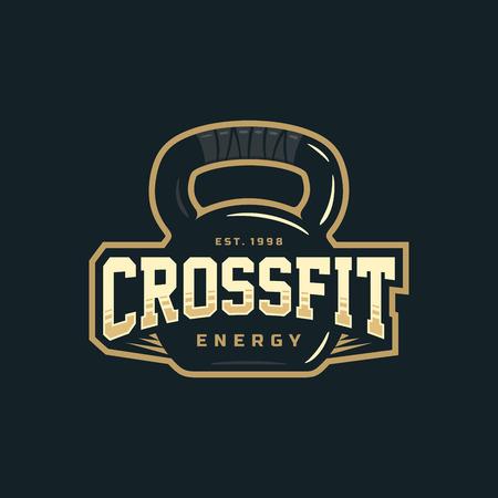 Modern vector professional logo emblem for crossfit.