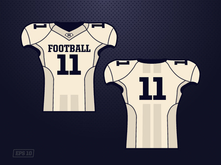 modern professional vector jersey player american football.