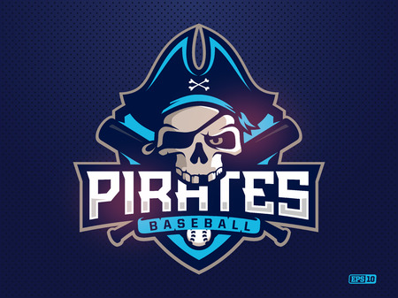 Modern professional emblem pirates for baseball team.