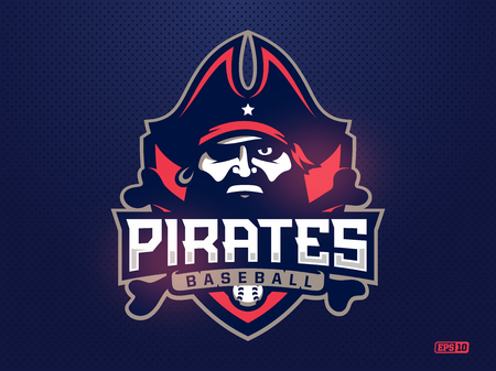 Modern Professional Emblem Pirates For Baseball Team Royalty Free