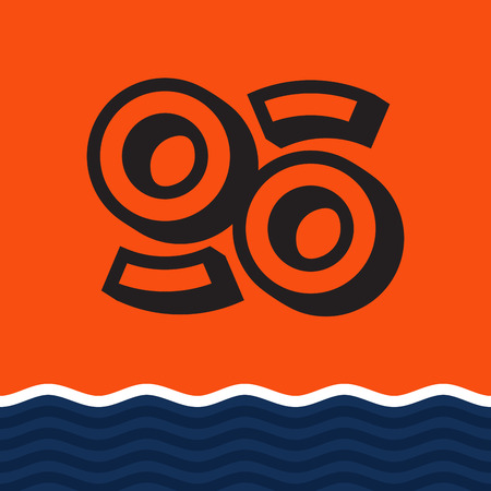 Modern professional print icon in orange and blue theme.