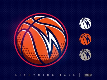 Modern professional basketball icon for sport team. Illustration