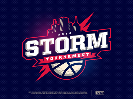 Modern professional basketball logo for sport team.
