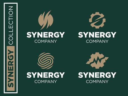 Modern professional vector set logos synergy for business Logo