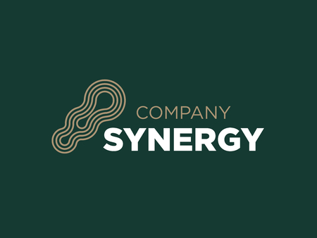Modern professional vector logo synergy in green theme