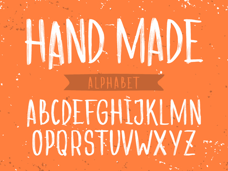 Modern professional  alphabet with latin letters. Hand Made.