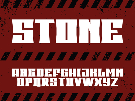Modern professional  alphabet with latin letters. Stone typeface.