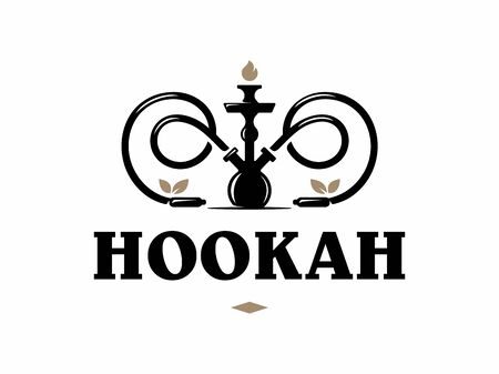 Modern professional hookah in gold and white theme.
