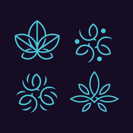 Modern professional ornaments set in blue theme