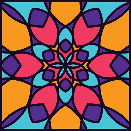 Modern professional pattern ornament in colorful theme