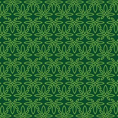 Modern professional pattern ornament in cannabis theme Ilustrace