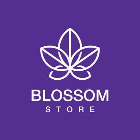 Modern professional blossom store in purple theme