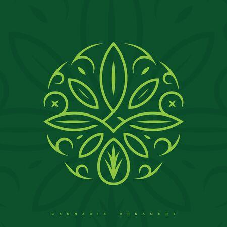 Modern professional ornament in green theme Ilustrace