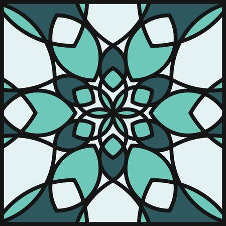 Modern professional pattern ornament in green theme