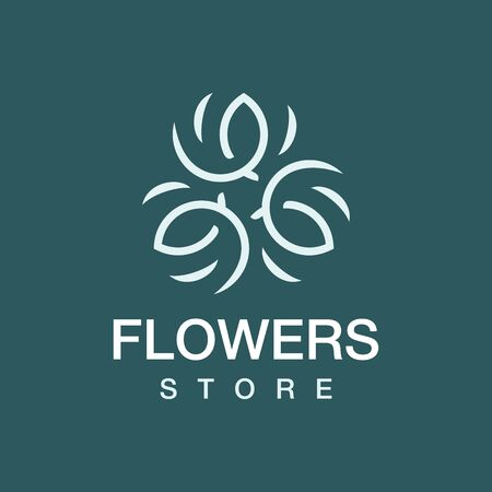 Modern professional flowers store in green theme