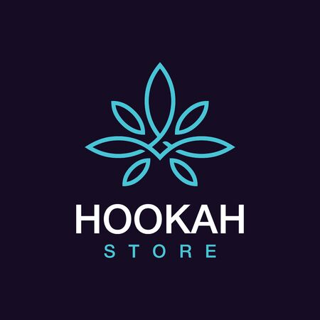 Modern professional hookah store in black and blue theme.