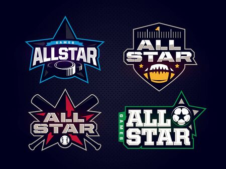 Modern professional emblem all star collection for sports