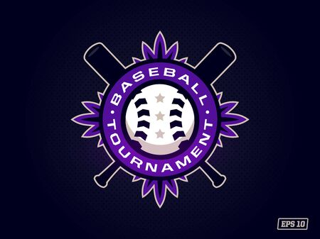 Modern professional emblem for baseball tournament in purple theme Ilustrace